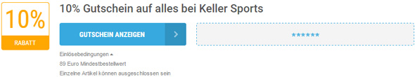 Keller Sports Einlösebedingungen