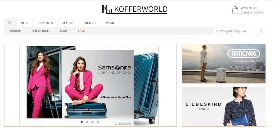 Kofferworld Online Shop