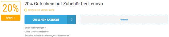 Lenovo Einlösebedingungen