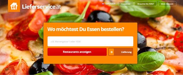 Lieferservice.at Screenshot