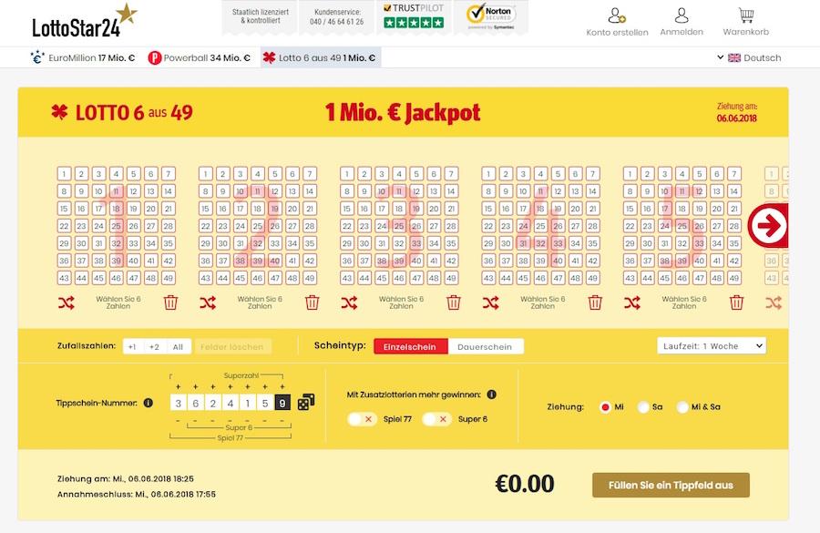 Lottostar24 Gutscheine