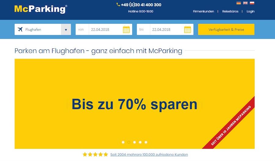 McParking 70% Rabatt