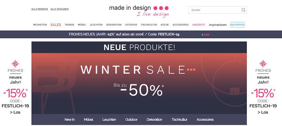 Made in Design Sale