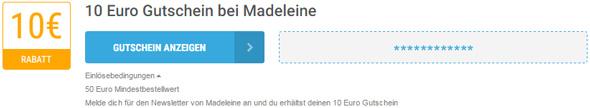 Madeleine Einlösebedingungen