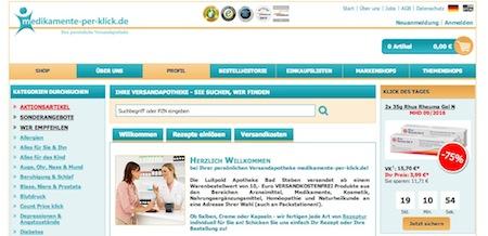 Medikamente-per-klick Webseite