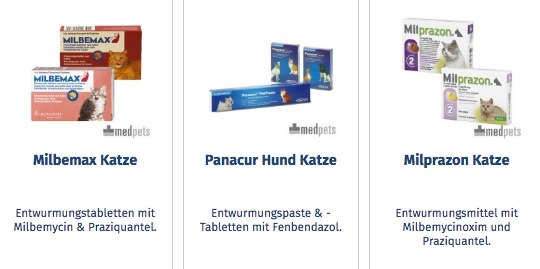 Medpets Produkte