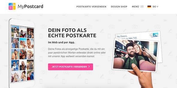mypostcard Webseite