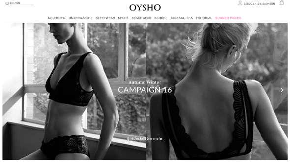 Oysho Online Shop