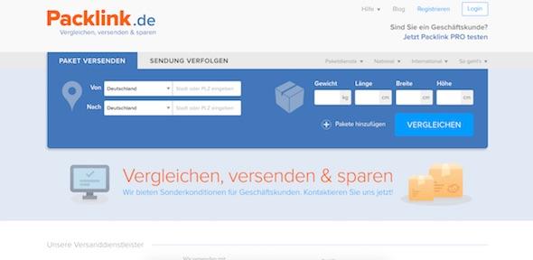Packlink Webseite