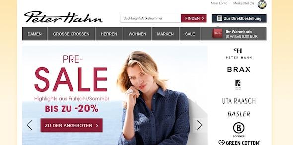 Peter Hahn Webseite