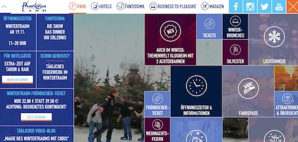 Phantasialand Webseite