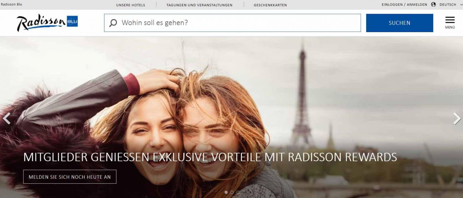 Radisson Blu Homepage Angebote