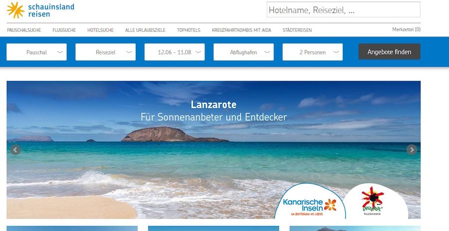 Schauinsland Reisen Suche