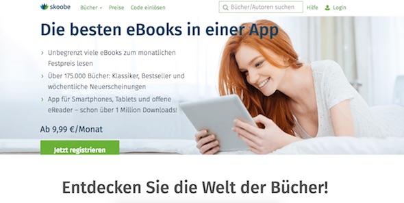 Skoobe Webseite