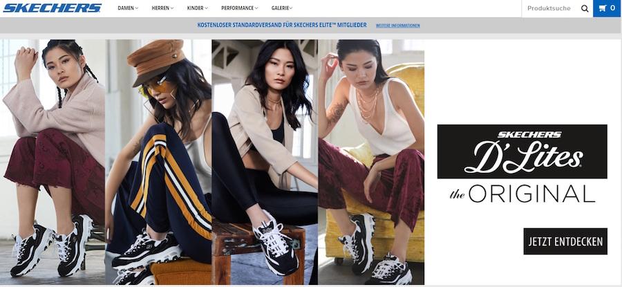 Sketchers Homepage Angebote