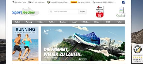 Sport Redler Webseite