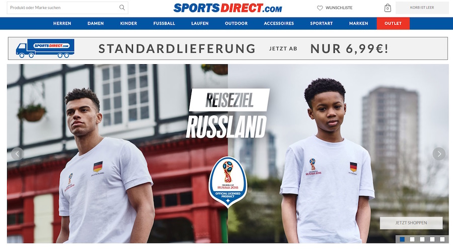 Sports Direct AT Shop