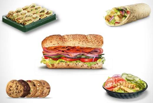 Subway Auswahl Produkte