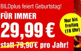 BILDplus Monatsabo für 2,99€