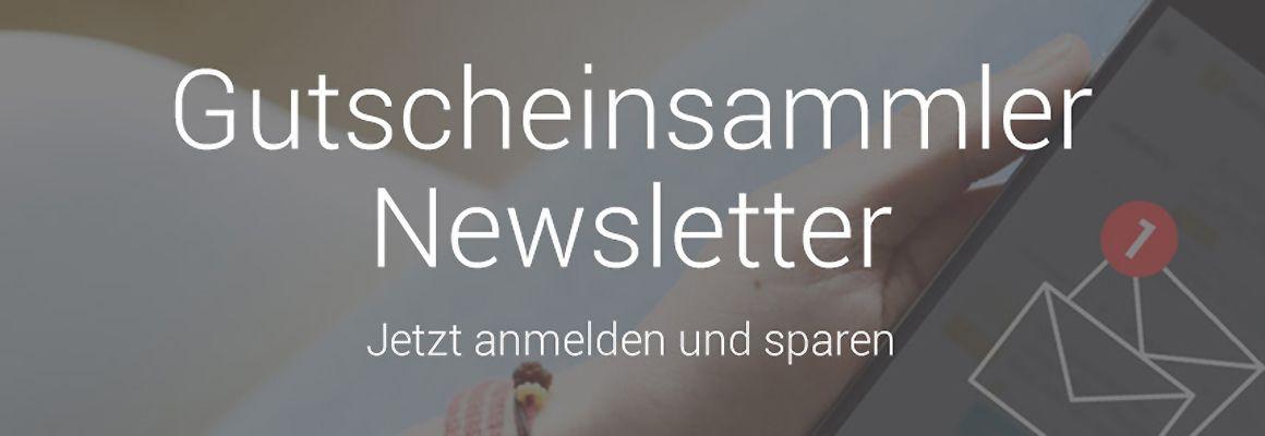 Gutscheinsammler Newsletter ≫ Jetzt anmelden und sparen